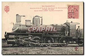 Carte Postale Ancienne Train Locomotive Machine de la Cie PLM des trains de marchandises