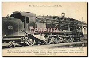 Carte Postale Ancienne Train Locomotive Machine 6110