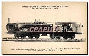 Carte Postale Ancienne Train Locomotive Conservatoire National des Arts et Metiers Rue Saint Mart...