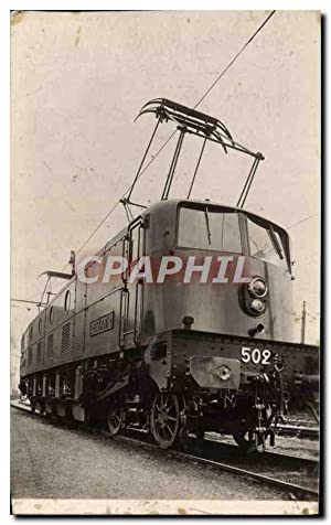 CARTE PHOTO Train Locomotive 502