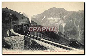 Carte Postale Ancienne Train Locomotive Chemin de fer des rochers de Naye
