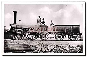 Carte Postale Ancienne Train Locomotive 11 Saint Lo Compagnie de Paris a Rouen