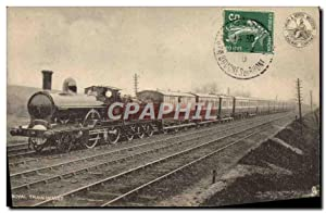 Carte Postale Ancienne Train Locomotive Roayl Train en 1887