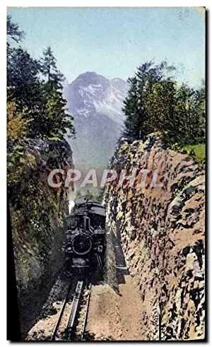 Carte Postale Ancienne Train Locomotive Brunigbahn auf der Passhohe