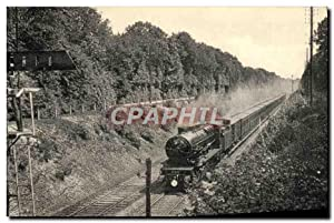Carte Postale Ancienne Train Locomotive Region du Nord Un train de courses Paris Chantilly dans l...
