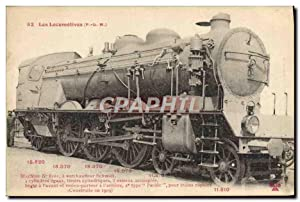 Carte Postale Ancienne Train Locomotive 6101
