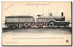 Carte Postale Ancienne Train Locomotive Machine du Midland Railway