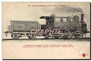 Carte Postale Ancienne Train Locomotive Chemin de fer Paris Orleans