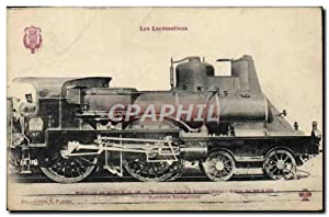 Carte Postale Ancienne Train Locomotive Machine de Cie PLM Premier type a coupe vente