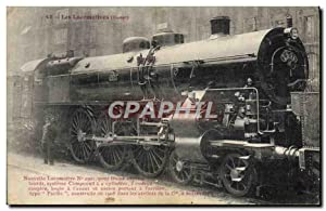 Carte Postale Ancienne Train Nouvelle Locomotive 2901 pour trains express