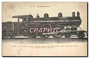 Carte Postale Ancienne Train Locomotive a 4 roues accouplees