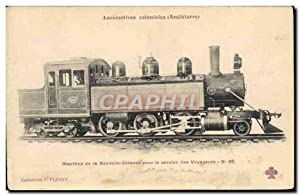 Carte Postale Ancienne Train Locomotives coloniales Angleterre Machine de la Nouvelle Zelande New...