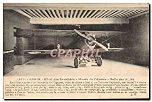 Carte Postale Ancienne Militaria Avion Aviation Paris Hôtel des Invalides Salle des Allies Guynemer