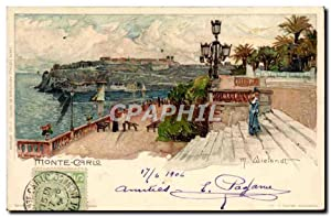 Carte Postale Ancienne Illustrateur Monte Carlo