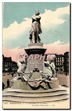 Carte Postale Ancienne Paris Le Monument de Gambetta