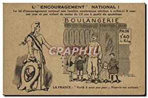 Carte Postale Ancienne L'Encouragement National Boulangerie