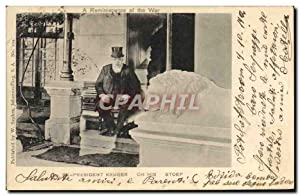 Carte Postale Ancienne President Kruger on his Stoep