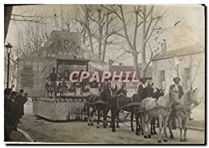 CARTE PHOTO Aix en Provence Carnaval Tabac