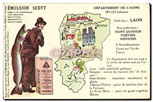 Carte Postale Ancienne Emulsion Scott département Aisne Laon Saint Quentin Vervins Soissons