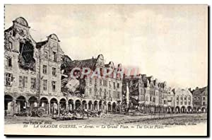 Carte Postale Ancienne Arras La Grand Place Militaria