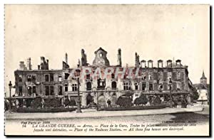 Carte Postale Ancienne Arras Place de la Gare Militaria