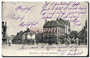 Carte Postale Ancienne Epernay Rue Du Commerce