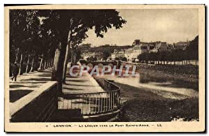 Carte Postale Ancienne Lannion Le Leguer Vers Le Pont Saint Anne
