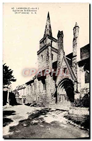 Carte Postale Ancienne Lannion Eglise De Brelevenez