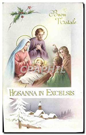 Carte Postale Ancienne Hosanna In Excelsis Christ