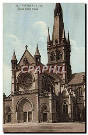 Carte Postale Ancienne Epernay Eglise Notre Dame