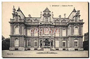 Carte Postale Ancienne Epernay Château Perrier