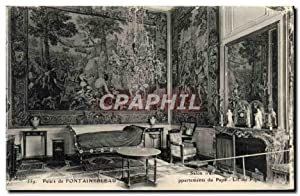 Carte Postale Ancienne Palais De Fontainebleau Salon d'attente des appartements du Pape Lit du Pape