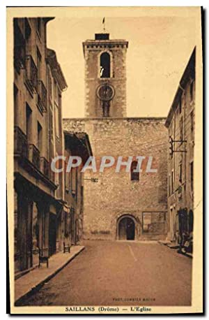 Carte Postale Ancienne Saillans L'Eglise