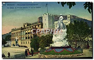 Carte Postale Ancienne Monaco Monument Commemoratif Le Prince Albert 1er