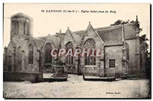 Carte Postale Ancienne Lannion Eglise Saint Jean Du Baly