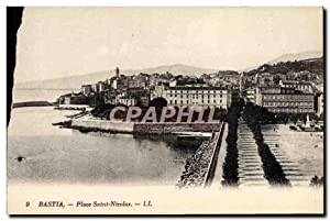 Carte Postale Ancienne Bastia Place Saint Nicolas