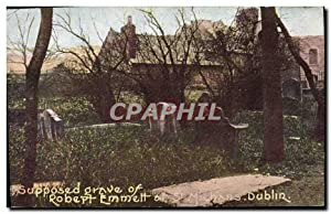 Carte Postale Ancienne Supposed grave of Robert Emmett St Michans Dublin