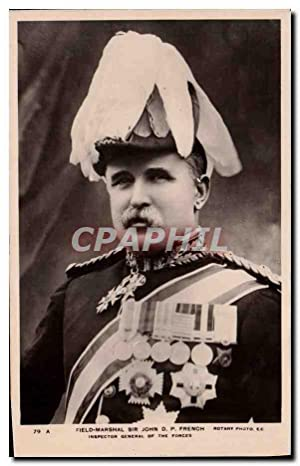 Carte Postale Ancienne Field Marshal Sir John DP French Inspector Général of the forces