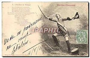 Carte Postale Ancienne Fantaisie Vieilles chansons Fanfan