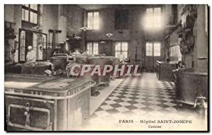 Carte Postale Ancienne Cuisine Paris Hopital Saint Joseph