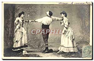 Carte Postale Ancienne Homme Femme