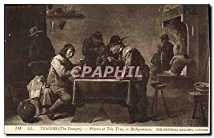 Carte Postale Ancienne Teniers The younger Players at Tric Trac or Backgammon The National Galler...