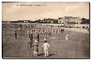 Carte Postale Ancienne Chatelaillon La plage Croquet Tennis