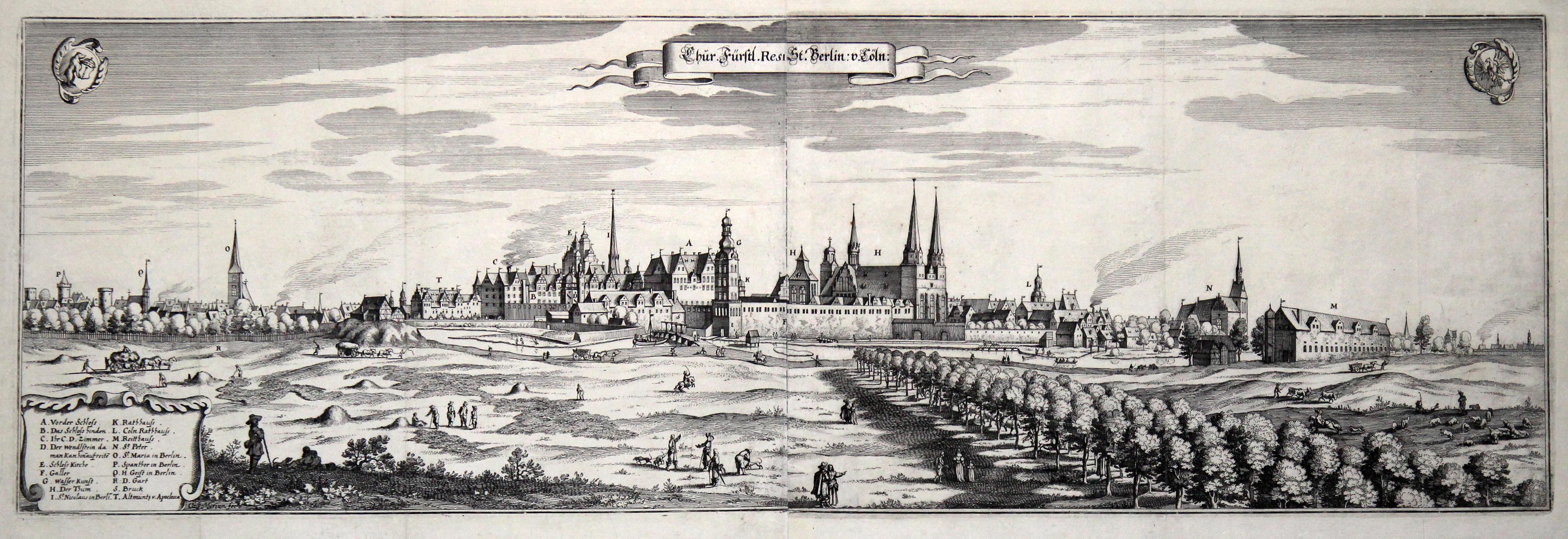 """01 """"Chur Fürstl. Resi. St. Berlin v.: BERLIN - GESAMTANSICHT:"""