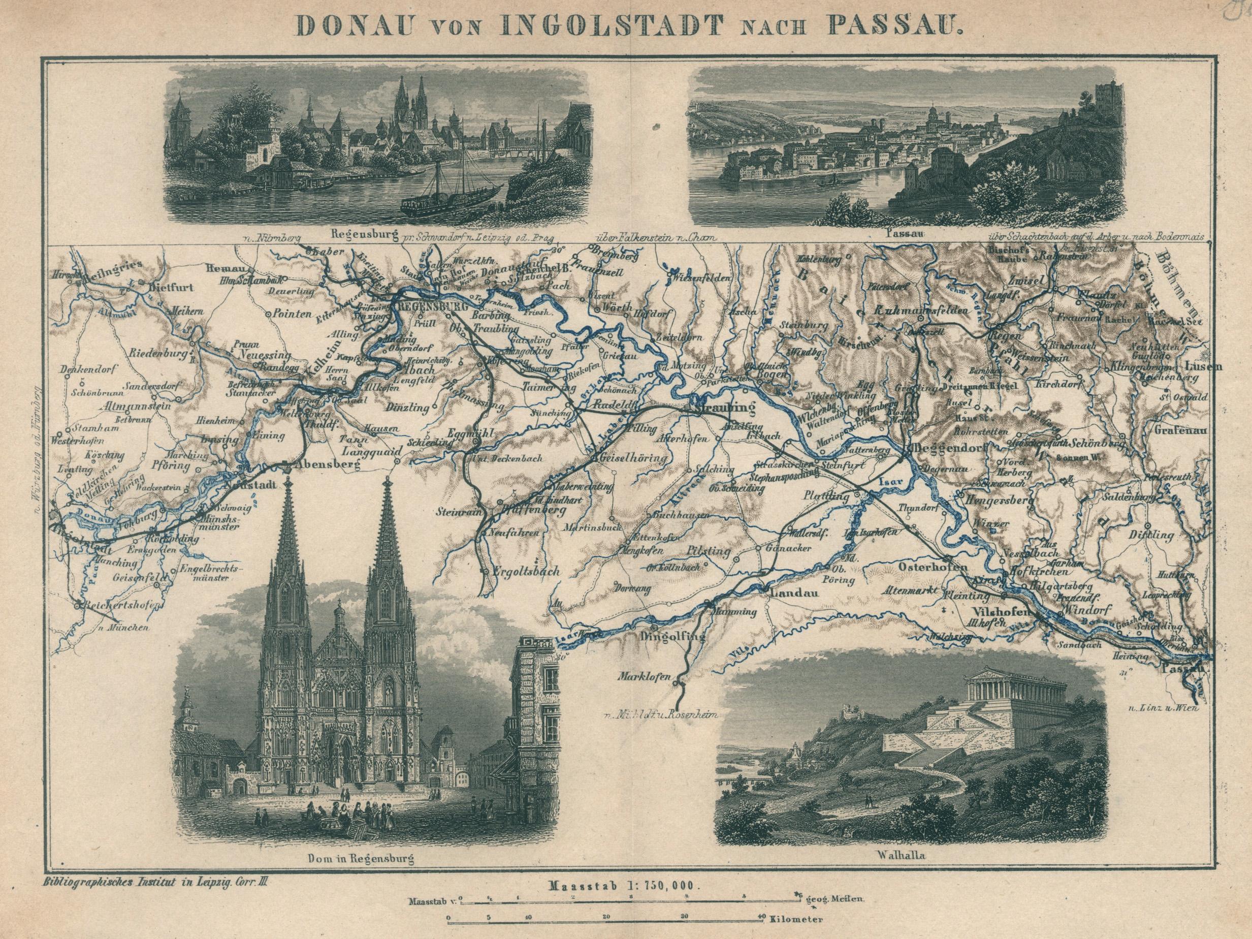 Passau Ausschnitt Von 1927 Sonstige