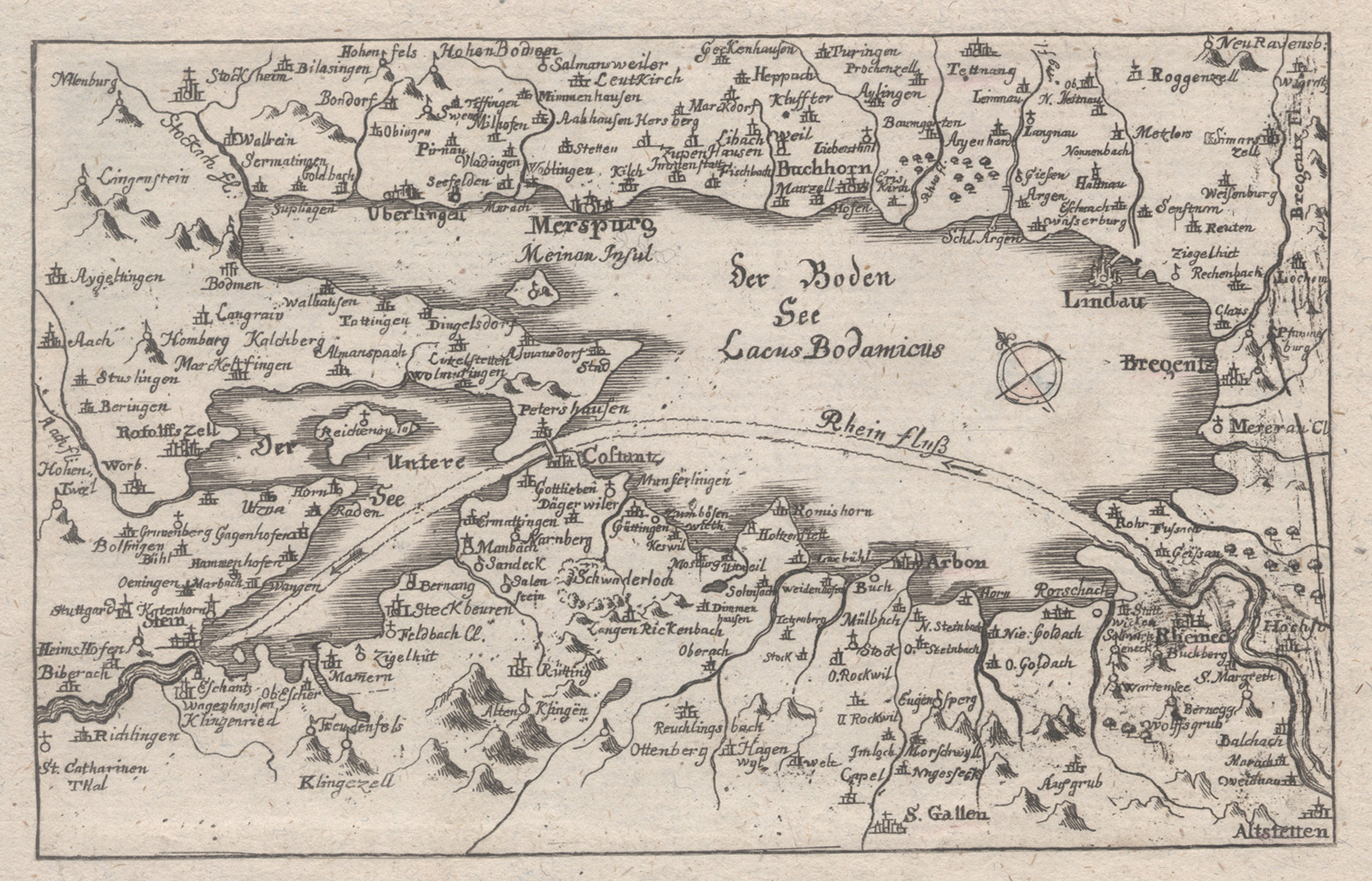 Bodensee Karte.Kupferstich Karte Anonym Aus Dielhelm
