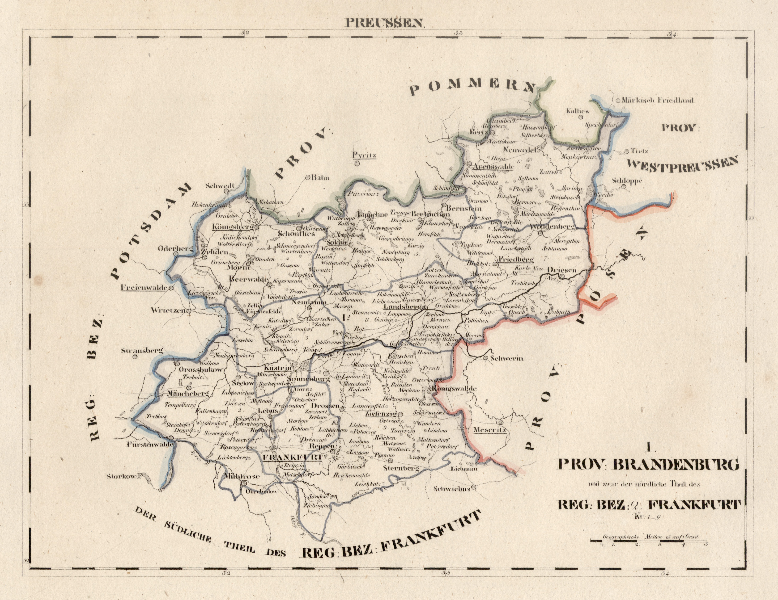 Frankfurt Karte Europa.Litho Karte Aus Schliebens Atlas Von