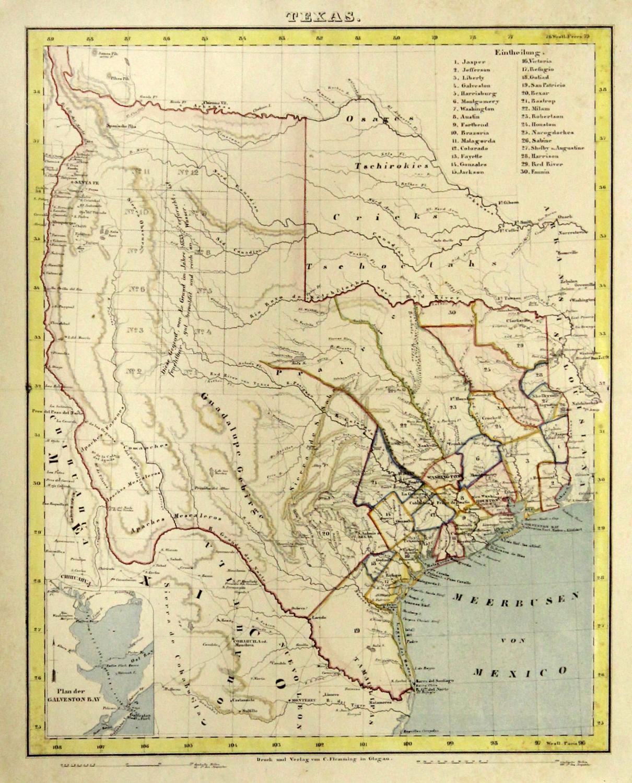 Austin Texas Karte.Litho Karte Mit Farb Tonplatte V C