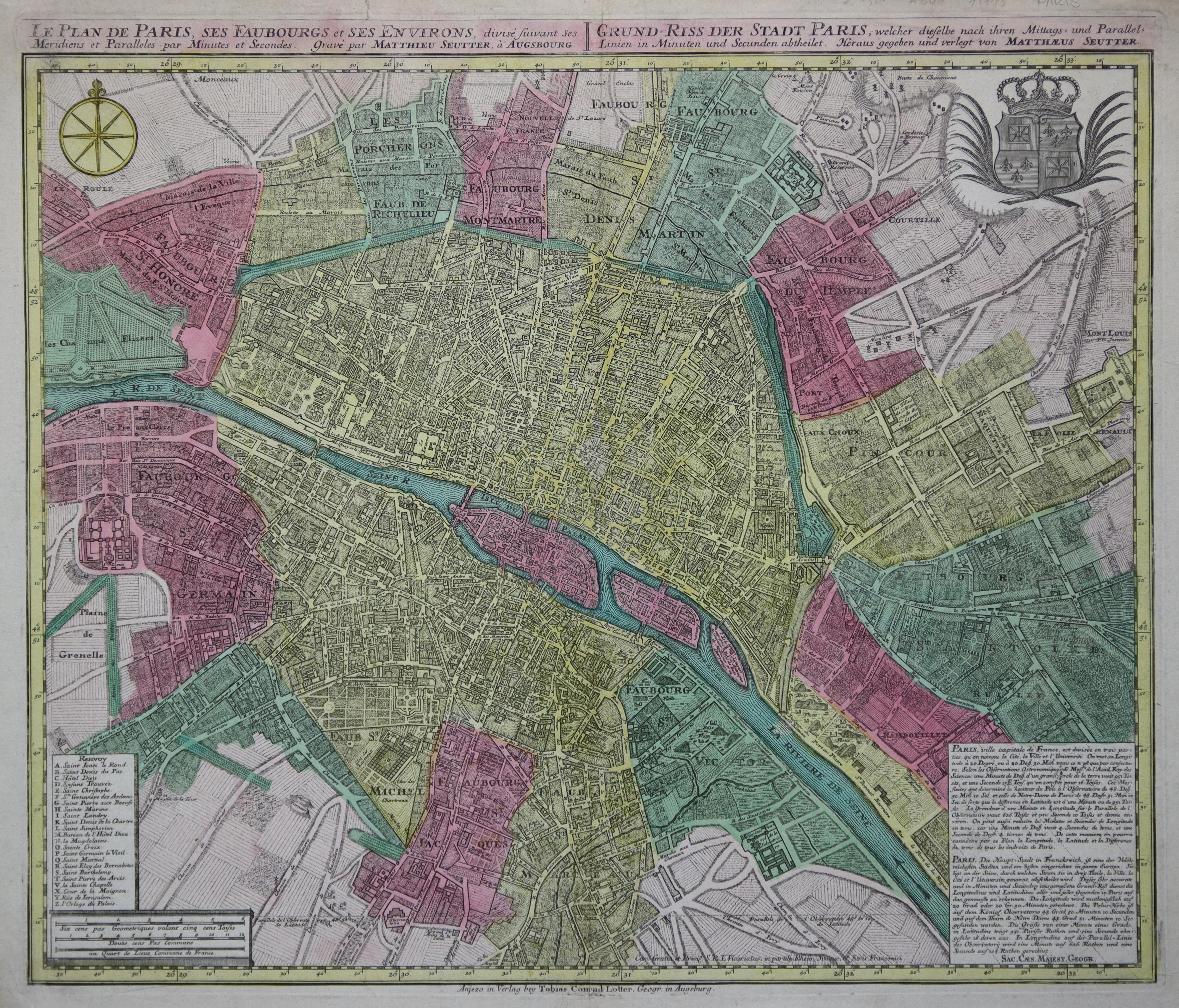 Karte Paris Stadtplan.Paris Stadtplan Plan Zvab