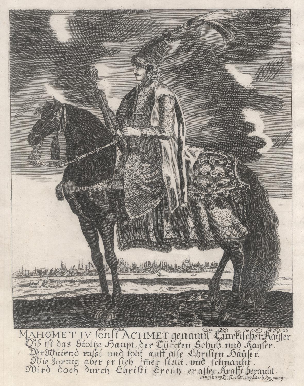 02.01.1642 - 06.01.1693). Sultan des Osmanischen Reiches: MEHMED IV. (1642-1693)